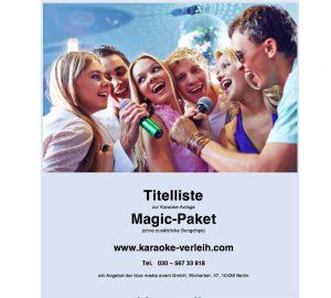 Karaoke Anlage Karaokeanlage Karaokemaschine Songliste songbook