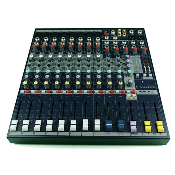 Mischpult Verleih Mixer Berlin 12-Kanal Soundcraft