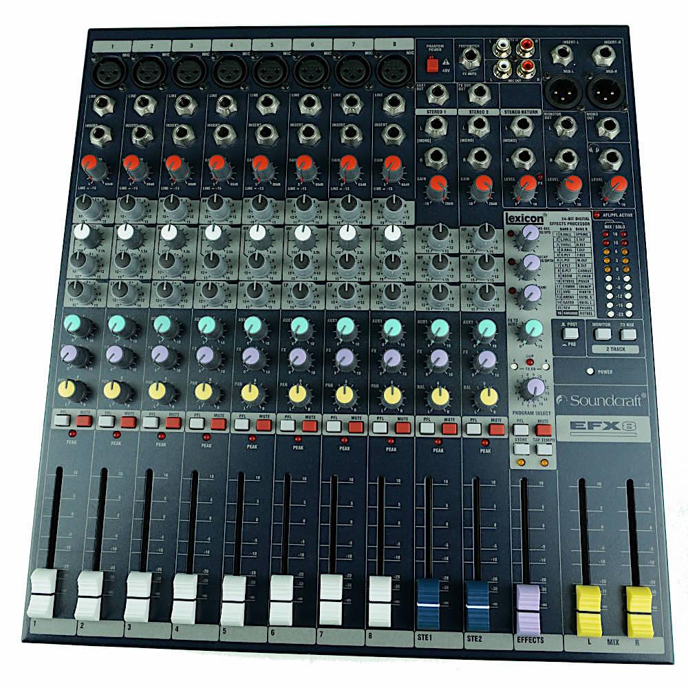 Mischpult rental mixer Berlin 12-Kanal Soundcraft