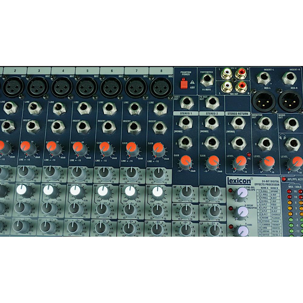 Mischpult Mixer mieten Berlin 12-Kanal Soundcraft